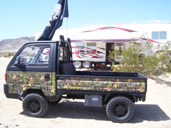 Camo Suzuki Carry Japanese Kei Mini Truck 4x4 Utility Vehicles Photo 1 ...