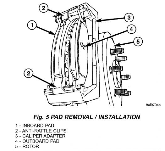 99 durango brake system components diagram