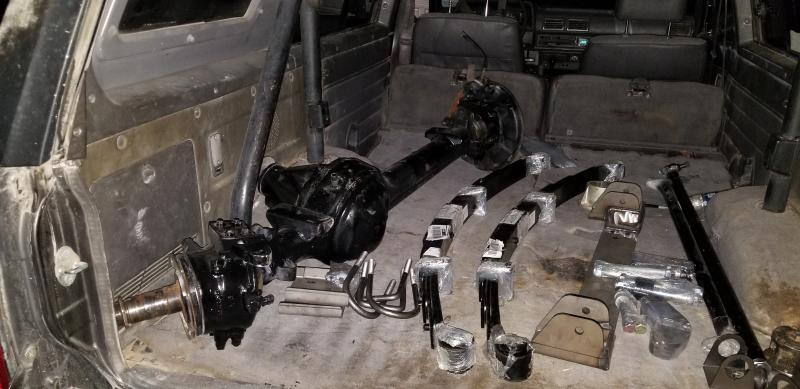 SAS stage3 Toyota solid axle swap kit from skysoff road,1985 front
