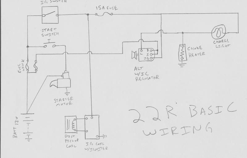 toyota hilux alternator wiring diagram wiring solutions1983 toyota pickup alternator wiring diagram