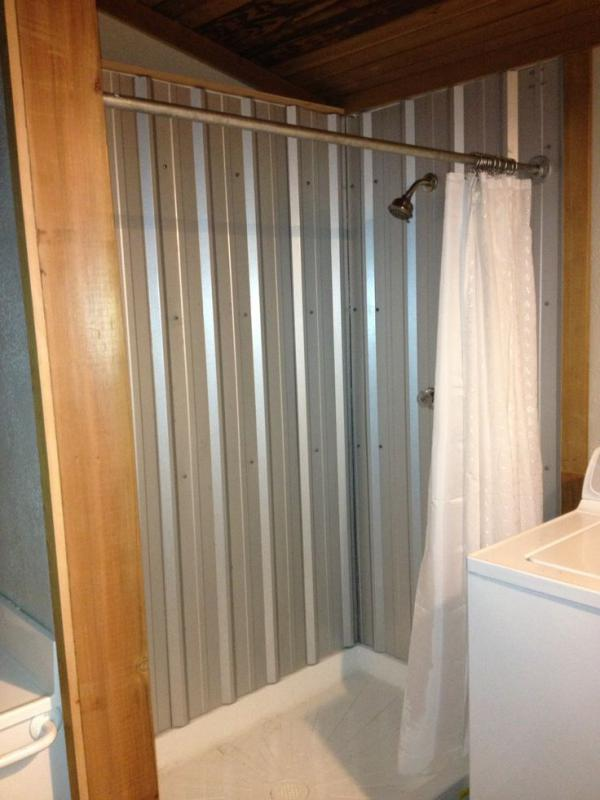 Metal Roof Panels In A Shower Pirate4x4 Com 4x4 And