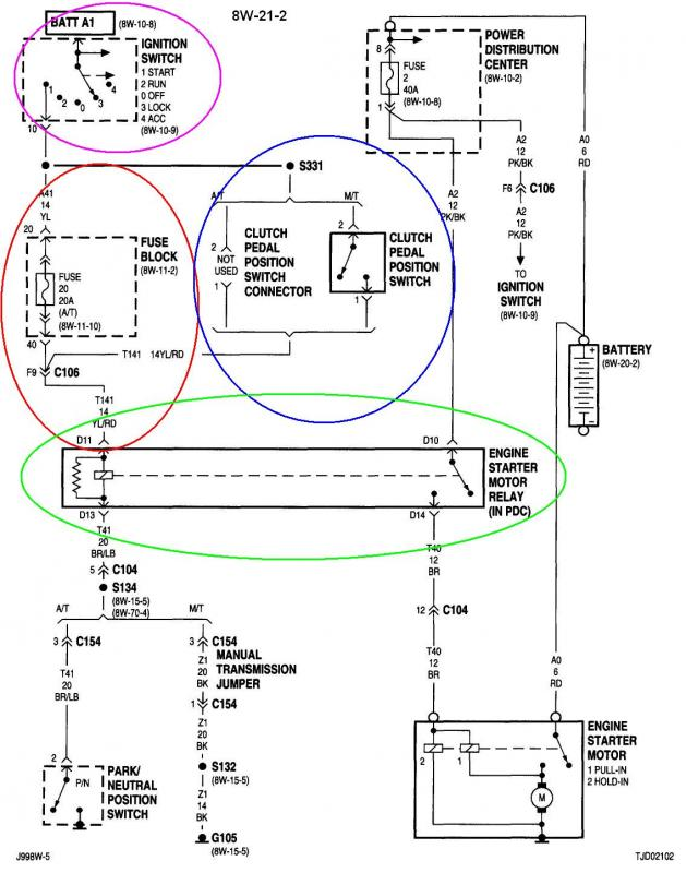 Attachment on Jeep Grand Cherokee Starter Relay Location