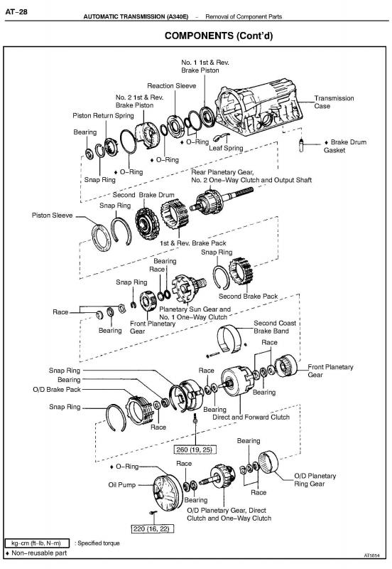 on a340e toyota transmission diagram