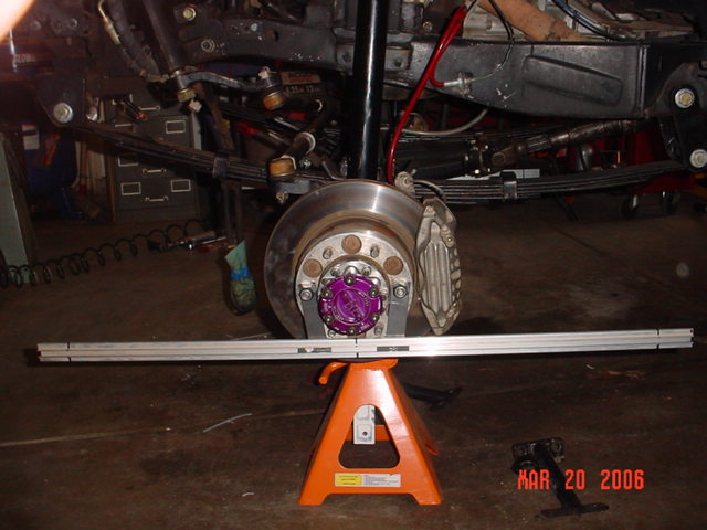 how to do a front end alignment on a truck
