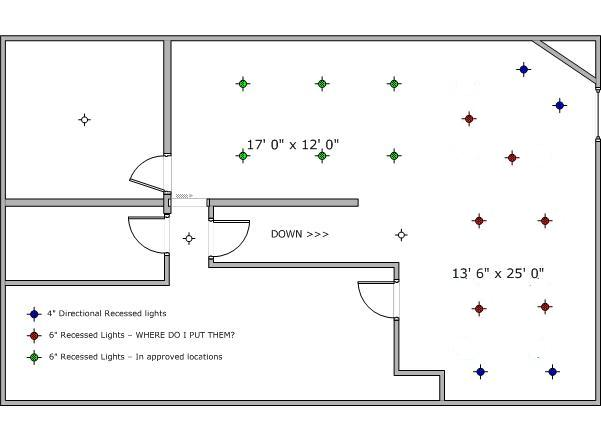 attached images basement lighting layout