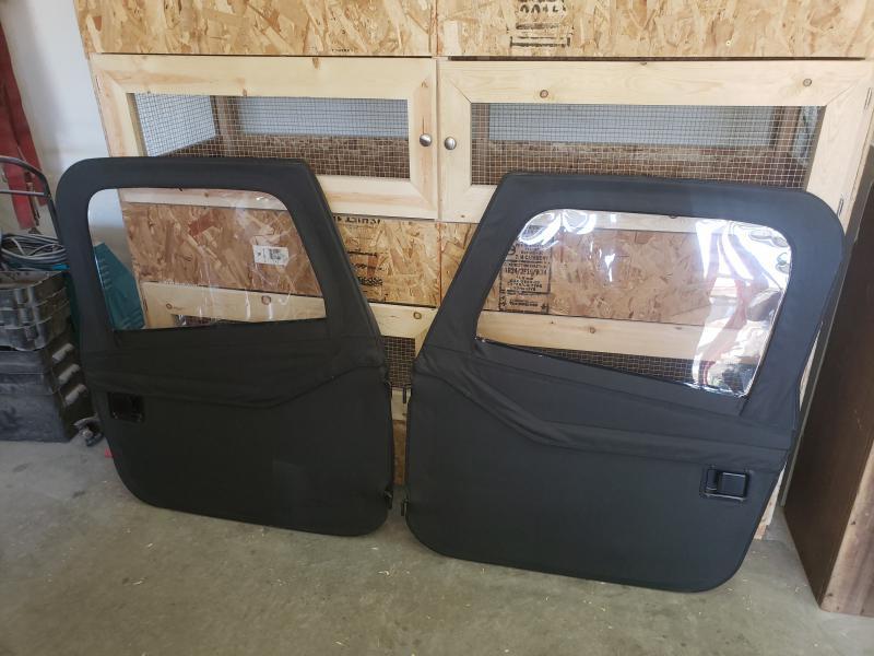 Bestop Full Soft Doors 87 95 Jeep Wrangler Yj Like New