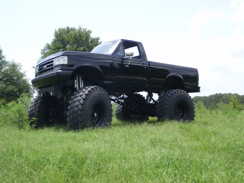 Lifted Ford Mud Truck