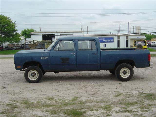 1985 Dodge Crew Cab Craigs List http://www.pirate4x4.com/forum/vehicles-trailers-sale/575872-1985-dodge-d350-crewcab-4x4.html