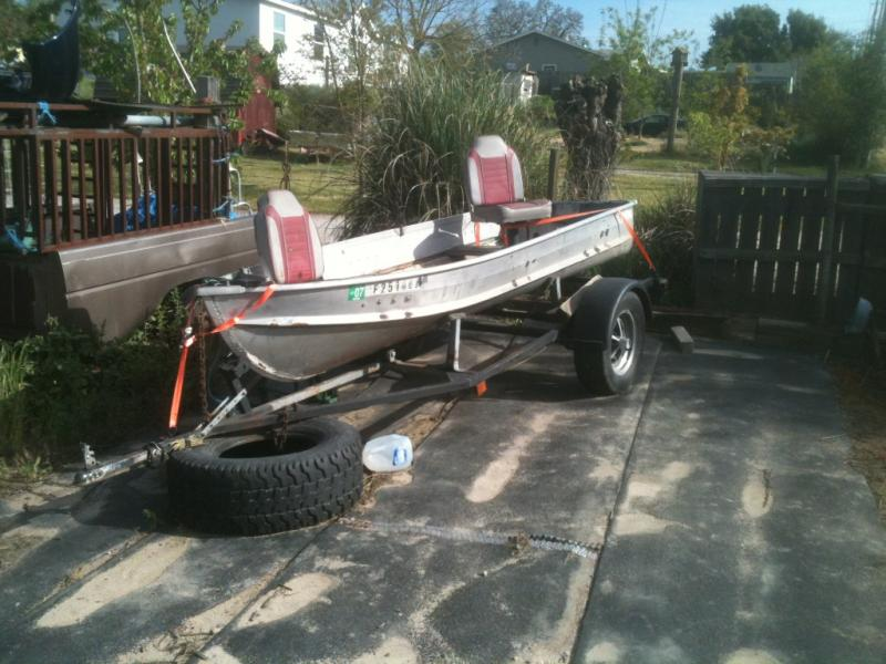 12 14 foot aluminum fishing boat w trailer 400 for 12 foot fishing boat