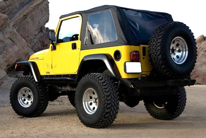 Jeep Tj Wrangler Frameless Soft Top Brand New Item