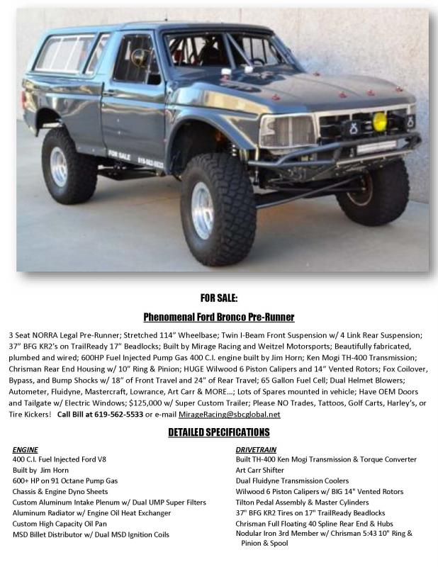 Phenomenal Ford Bronco Pre Runner Pirate4x4 Com 4x4 And Off Road
