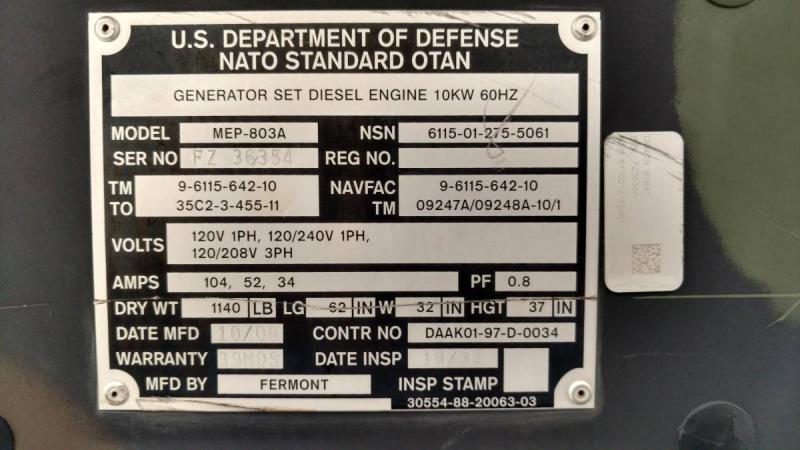 2006 10kw Diesel Generator (KOH Power Plant!) - Pirate4x4 Com : 4x4