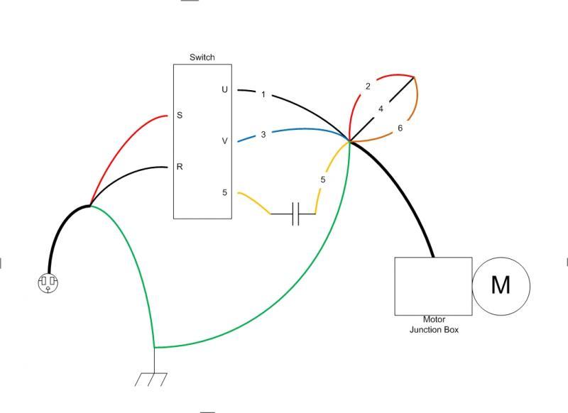 lathe motor wiring help