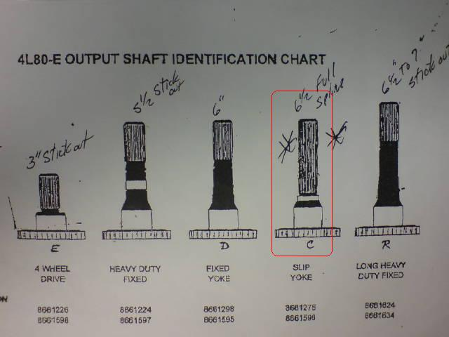 re: 4l80e output shaft