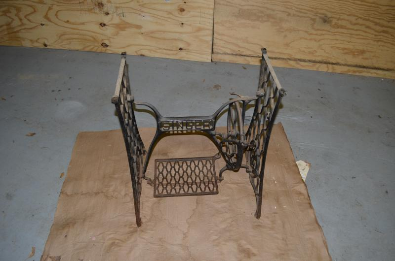 Need Help With Painting Prep Of An Antique Singer Treadle Sewing Simple Sewing Machine Treadle Base