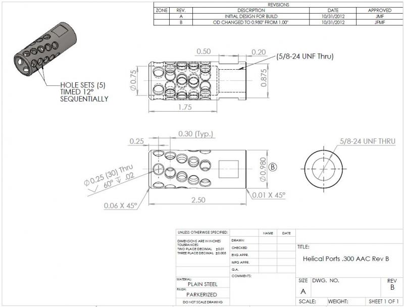 Muzzle Brake Blueprints Related Keywords & Suggestions - Muzzle