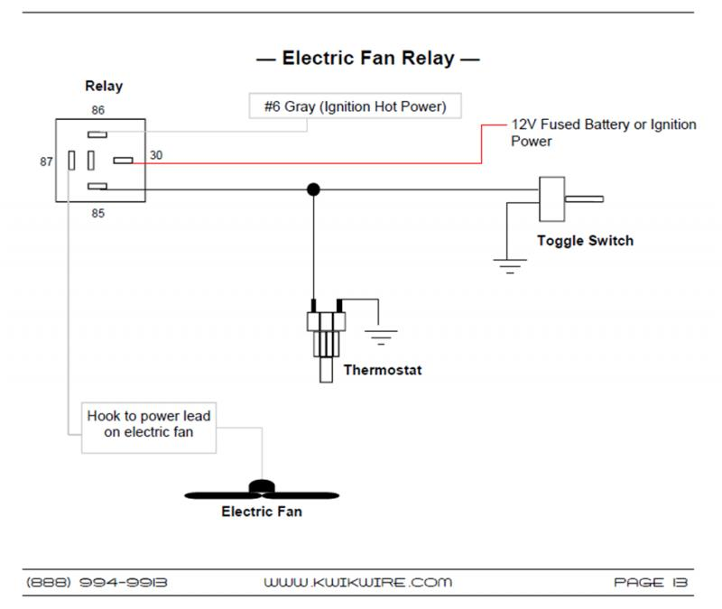 fan relay hook up ez efi fan relay cpg nation forum. Black Bedroom Furniture Sets. Home Design Ideas