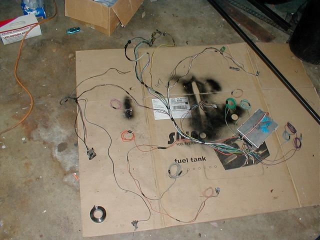 This is what the semi finished harness looks like. If I were taking this to completion, I would have been doing the wiring on the rig and cutting some of ...