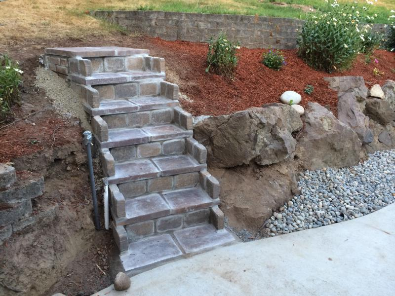 Cinder Block Vault Concrete Block Stairs Block Wall Retaining Wall With  Concrete