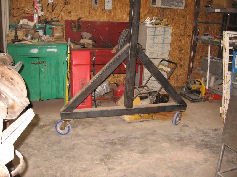 Homemade engine hoist a frame homemade free engine image for Shop hoist plans