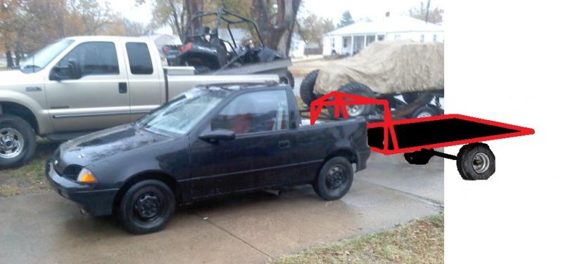 Geo Metro With Goose Neck Trailer  - Page 3