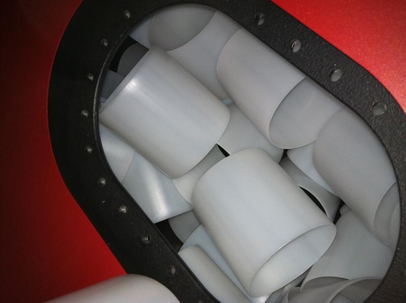 How to properly fix broken fuel tank baffles