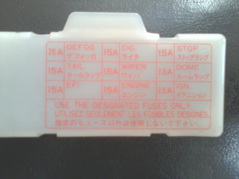 Need Picture Of Interior Fusebox Cover For 86 Truck
