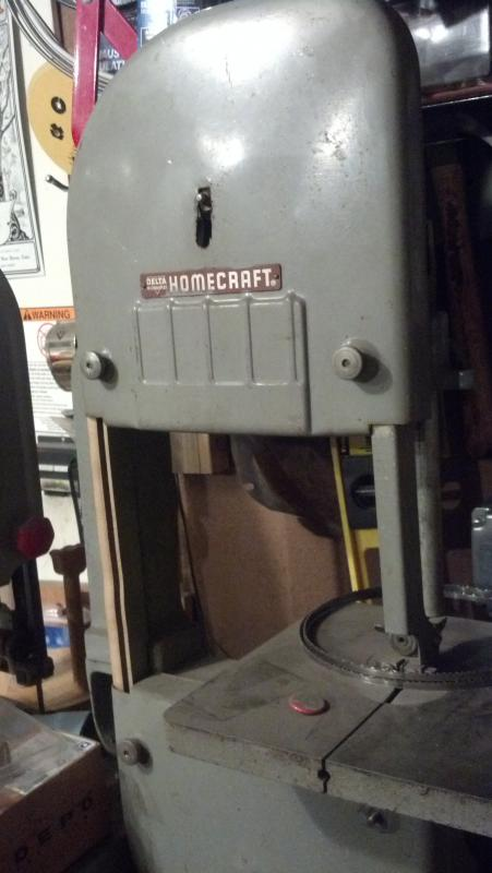 delta milwaukee homecraft bandsaw set up for metal pirate4x4