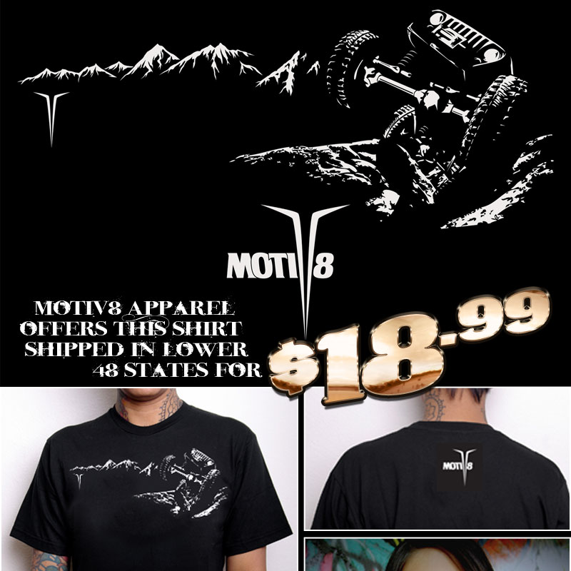 MotiV Apparel Jeep  Rock Crawler Design TShirt Piratex - Jeep t shirt design