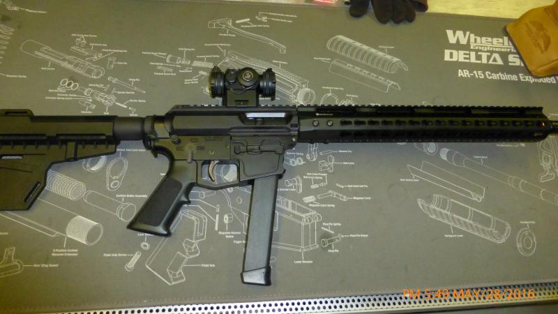 So if you were gonna build a 9mm side-charging-AR what's the