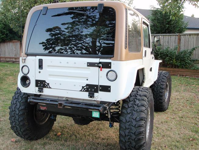 Swag Off Road Drop Down Tailgate Kit For Jeep Yj S Amp Tj S
