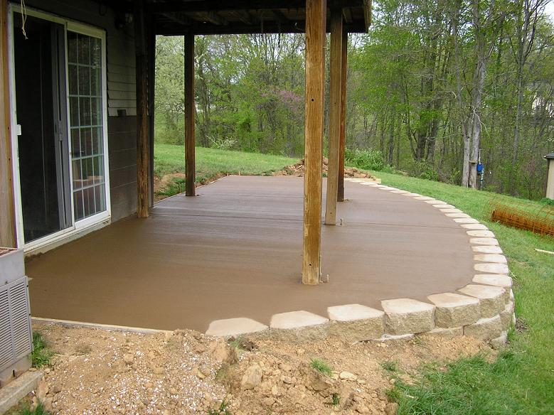 Dyed Concrete Patio Home Design Ideas And Pictures