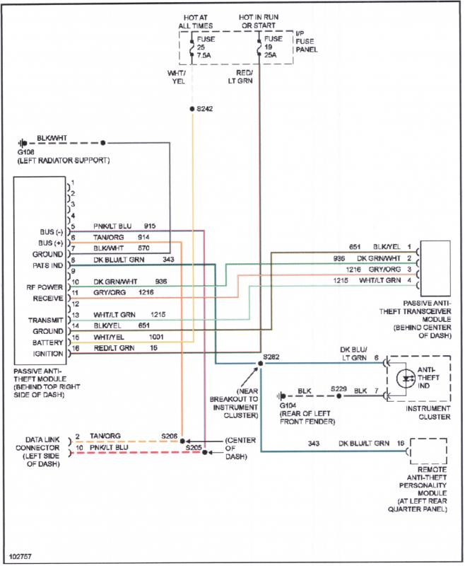 Ford Pats System Wiring Diagram