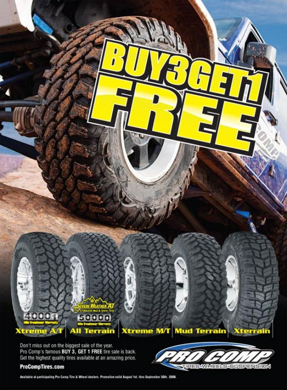 Procomp Buy 3 Get 1 Free Tire Sale Pirate4x4 Com 4x4 And Off