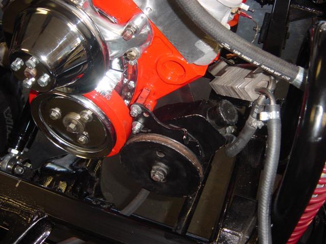 427 454 Power Steering And Alternator Brackets Diagram View