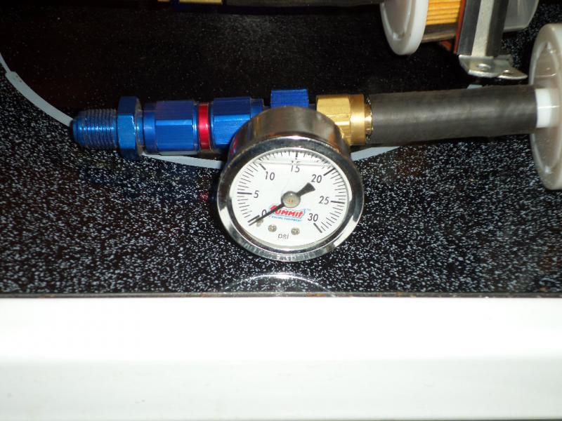 New GM TBI Inline Fuel Pump, Filters, Pressure Gauge, & Plumbing