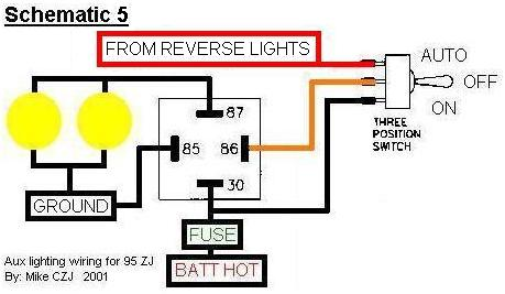 auxillary reverse lights wiring question pirate4x4 com