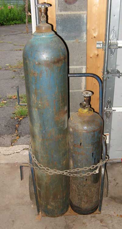 Got a set of older Oxy/Acetylene tanks questions on re-certification ...