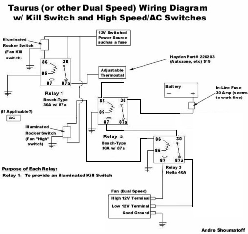 Another (and correct) way to Wire Taurus Fan - Pirate4x4.Com ... on