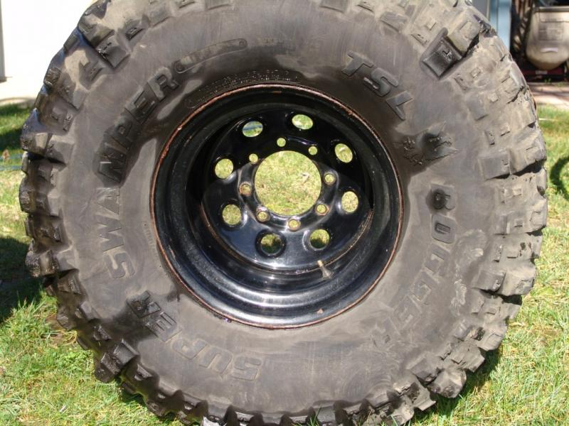 Used Tires San Jose >> 8 Lug 16.5 x 12 steel wheels w / 39.5 Boggers.....$ 400 - Pirate4x4.Com : 4x4 and Off-Road Forum
