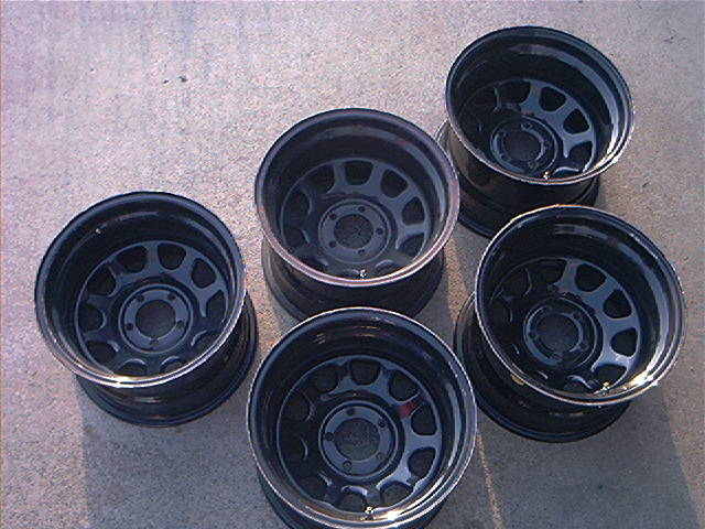 Steel Wheels For Sale >> 15x10 5 Black Steel Wheels Set Of 5 Pirate4x4 Com 4x4 And Off