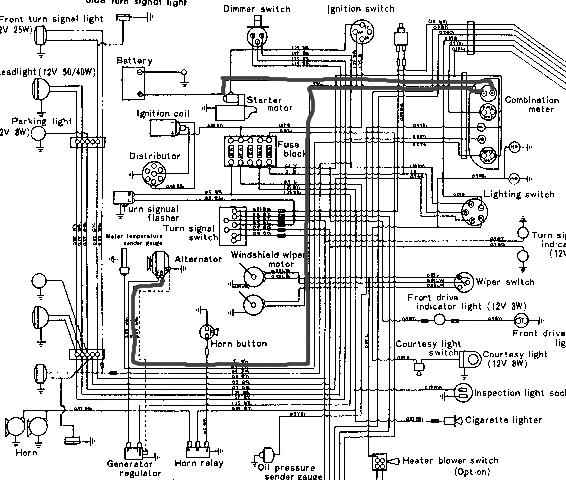 toyota land cruiser alternator wiring diagram