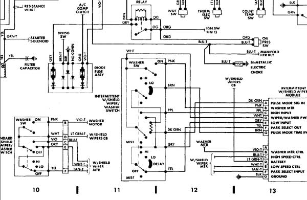 92 jeep wrangler radio wiring diagram