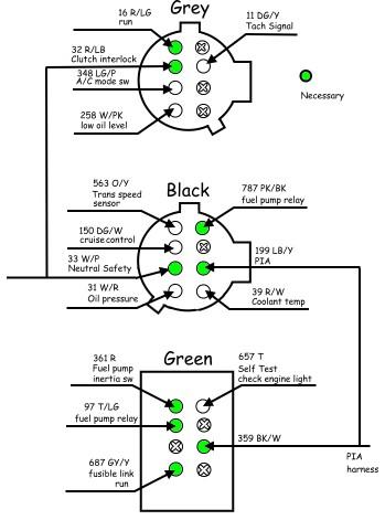 5 0 ho mustang wiring harness rework pirate4x4 com 4x4. Black Bedroom Furniture Sets. Home Design Ideas