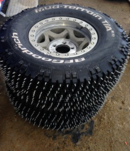 Hundereds of spikes give these BFGs the traction they need in the snow and ice.