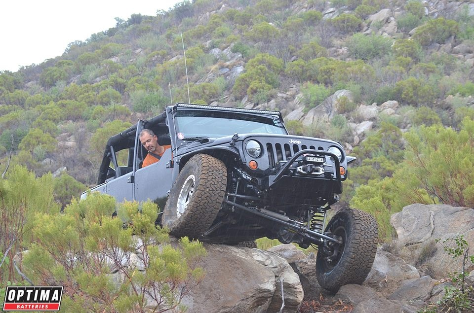 Wesley the JK doing work on the rock crawling course at Mike's Sky Ranch
