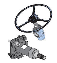 The Steering Column Is One Of More Simple Parts System It Bolts Directly To Unit On End And Then Either