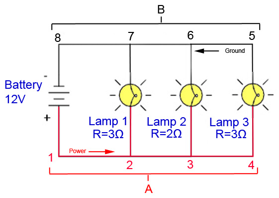 pirate4x4 com the largest off roading and 4x4 website in the world in a parallel circuit diagram or schematic each individual path through lamp 1 lamp 2 and lamp 3 is called a branch a branch in a parallel