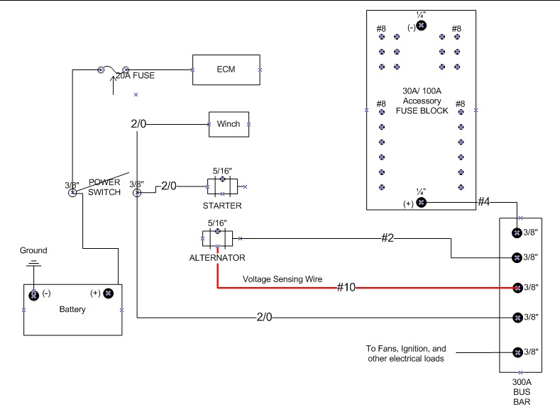 Remote Voltage Sensing: 4 Wire GM Alternator Plug Wiring Diagram At Johnprice.co