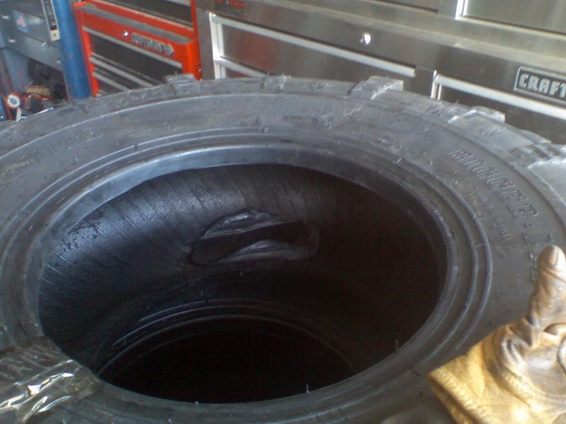 LTB counter balance rubber installed by interco tire
